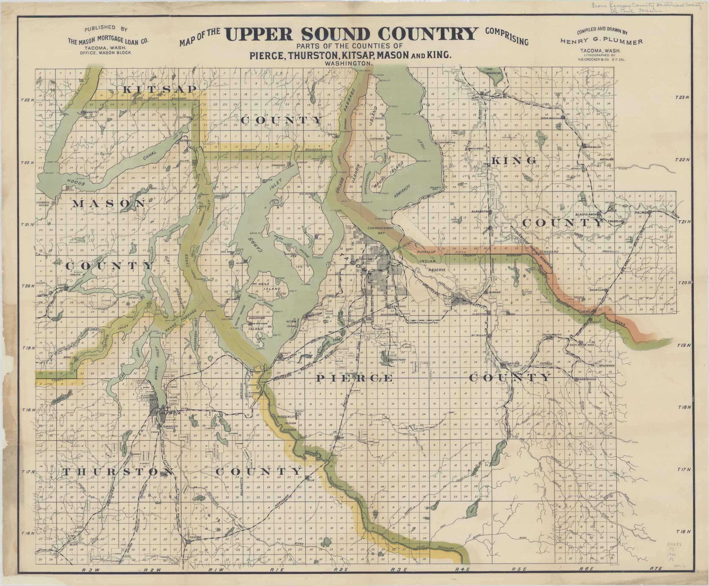 Jesse Ferguson Tumwater Pioneer - 1889 us railroad map