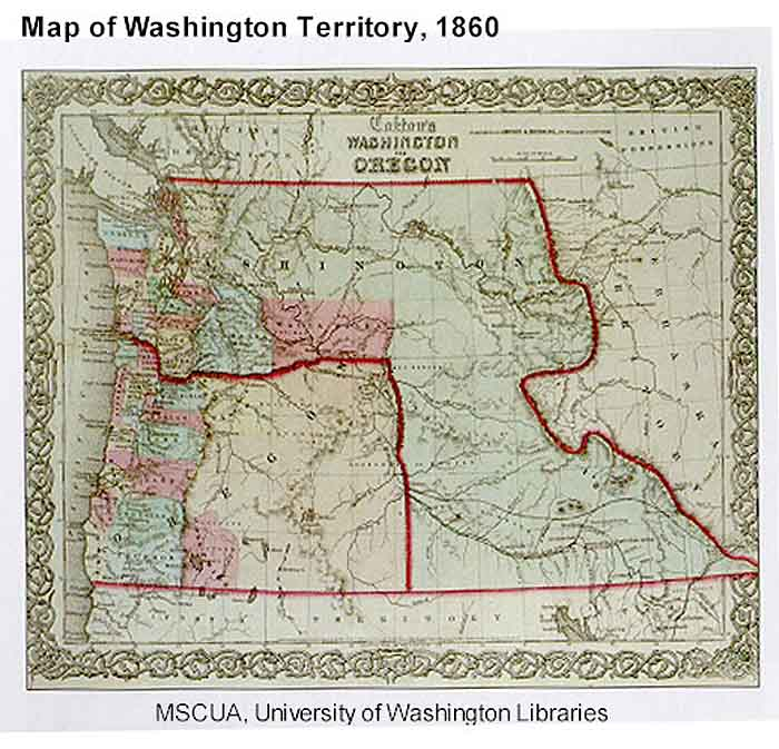 Map Of Washington Territory 1860